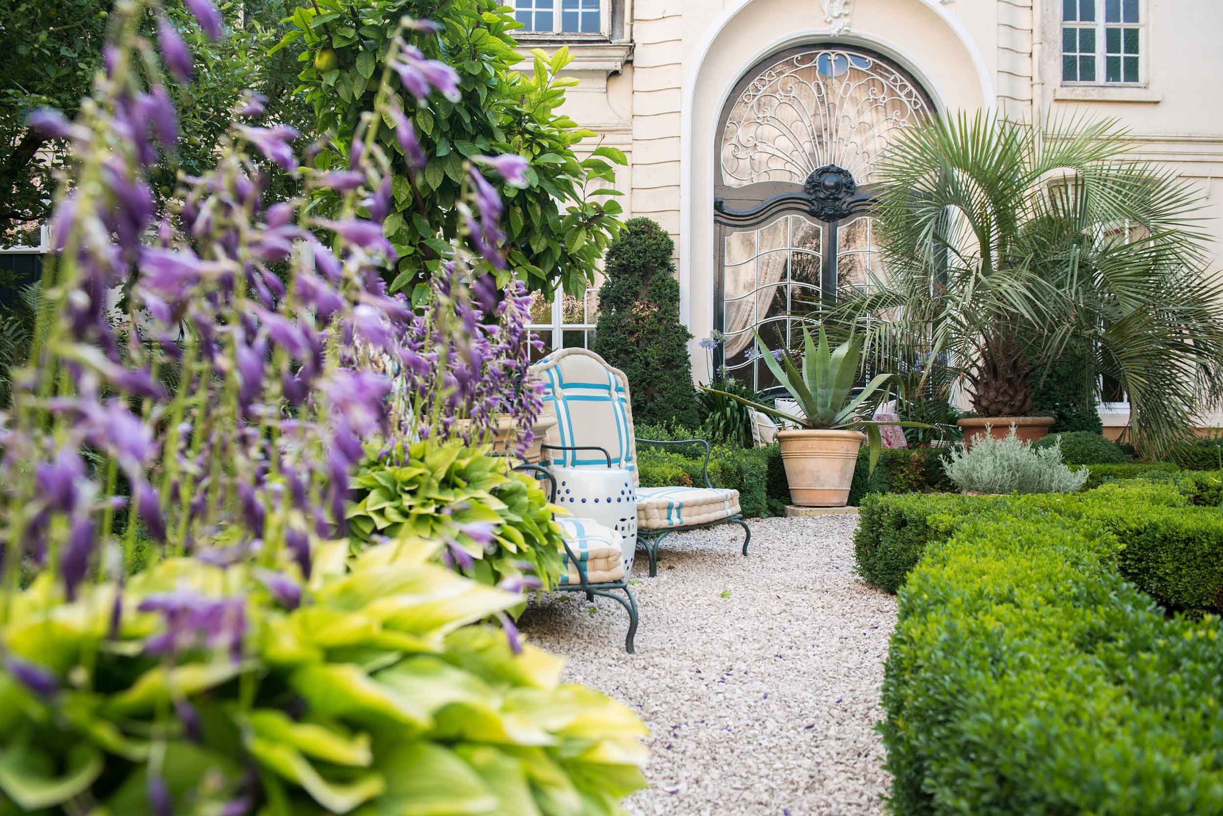 Charming courtyard garden